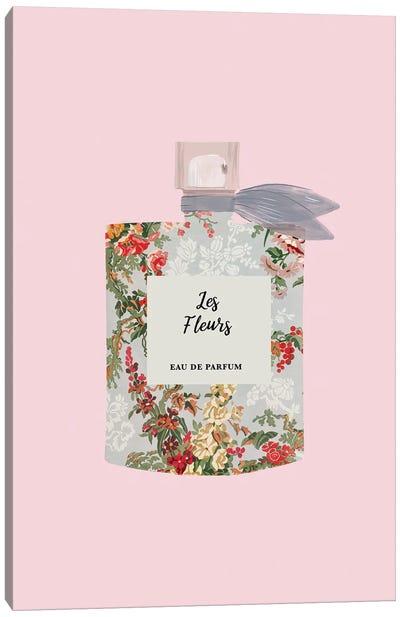 Les Fleurs Perfume Bottle Canvas Art Print