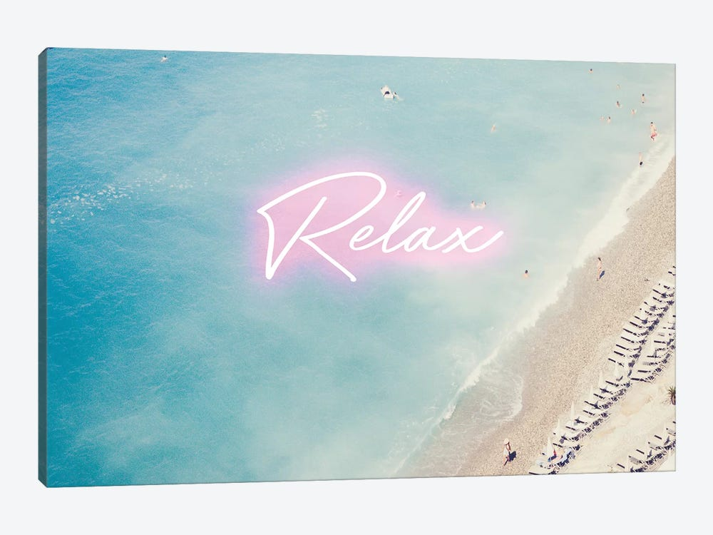 Neon Relax by Ruby and B 1-piece Canvas Art Print