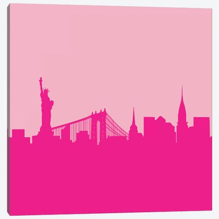 NYC In Pink Canvas Print #RAB50} by Ruby and B Canvas Print