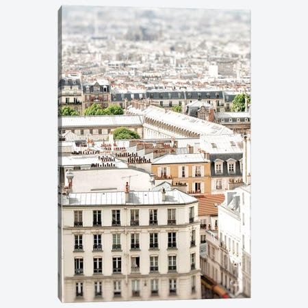 Paris Rooftops Canvas Print #RAB57} by Ruby and B Canvas Art