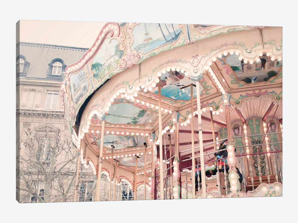 Parisian Carousel by Ruby and B 1-piece Canvas Print