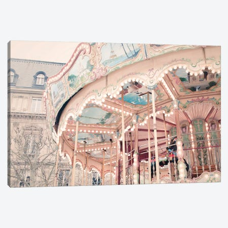 Parisian Carousel Canvas Print #RAB58} by Ruby and B Art Print