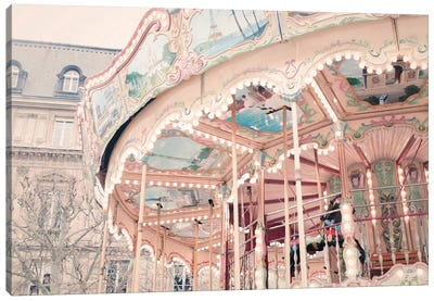 Parisian Carousel Canvas Art Print