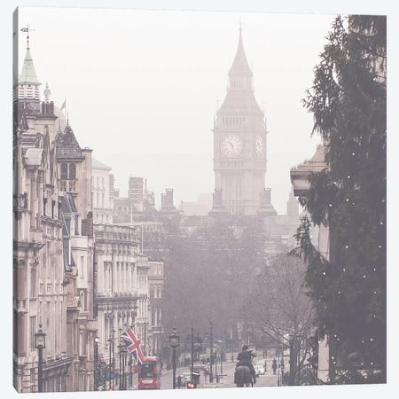 Beautiful London Fog Canvas Print #RAB5} by Ruby and B Art Print