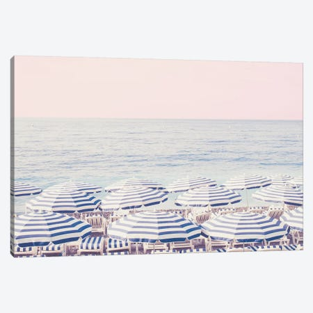 Pink Riviera Sunset Canvas Print #RAB60} by Ruby and B Canvas Art