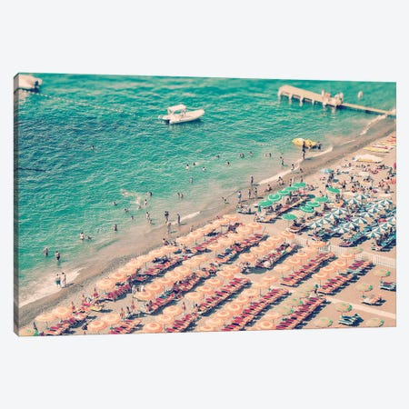 Positano Beach Canvas Print #RAB61} by Ruby and B Canvas Artwork