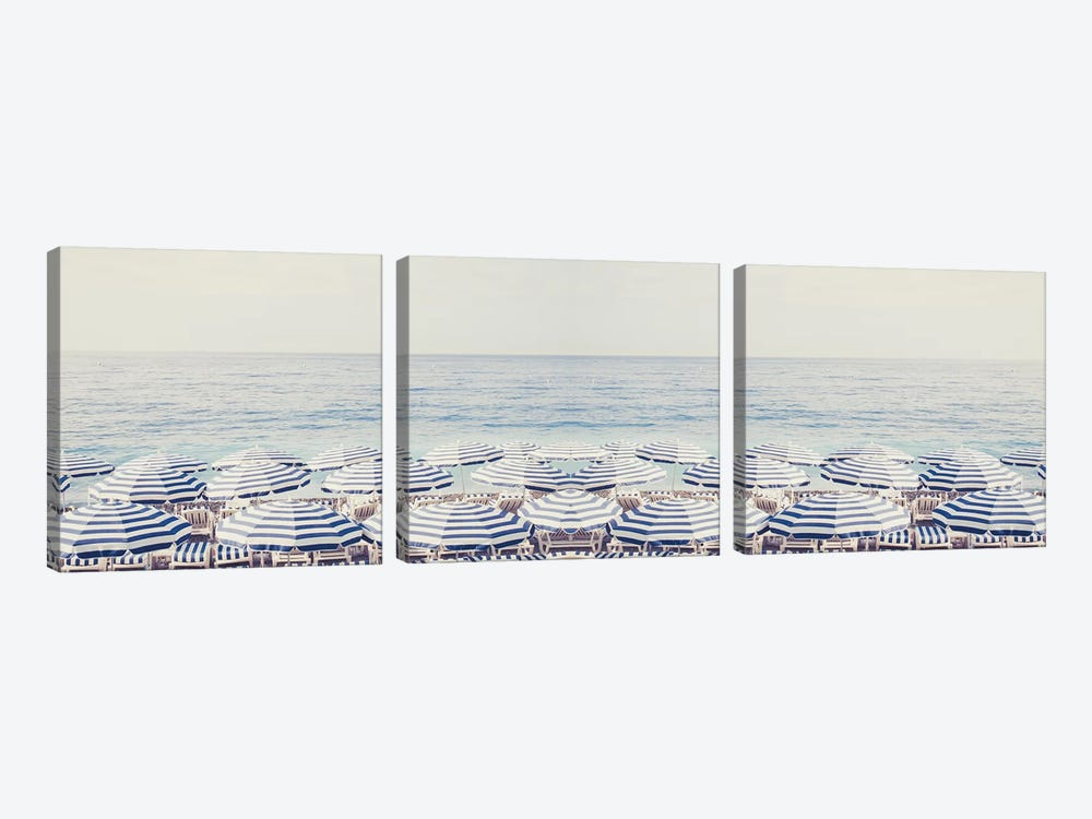 Riviera Dreaming Panorama by Ruby and B 3-piece Canvas Print