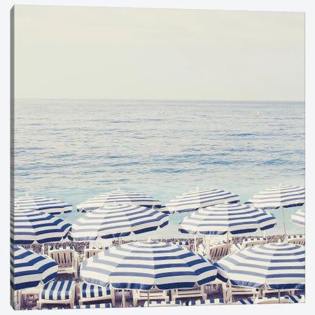 Riviera Umbrellas II Canvas Print #RAB70} by Ruby and B Canvas Print