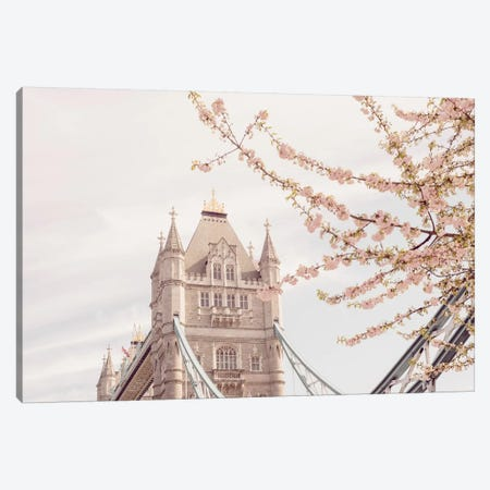 Tower Bridge Blooms Canvas Print #RAB73} by Ruby and B Art Print