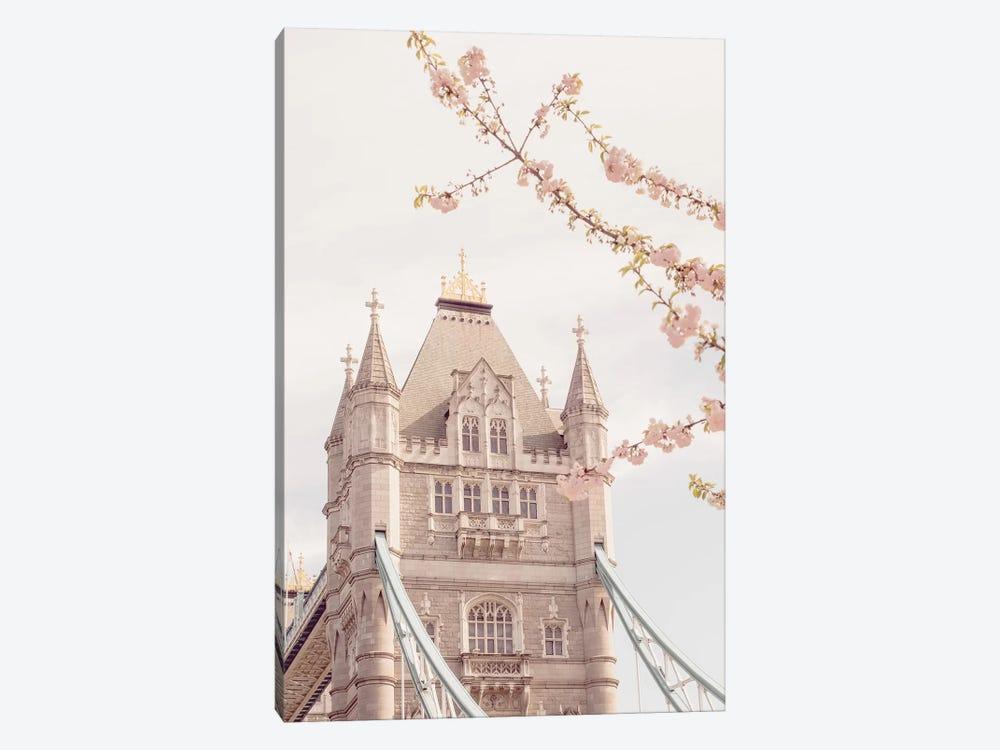 Tower Bridge Floral II by Ruby and B 1-piece Canvas Print
