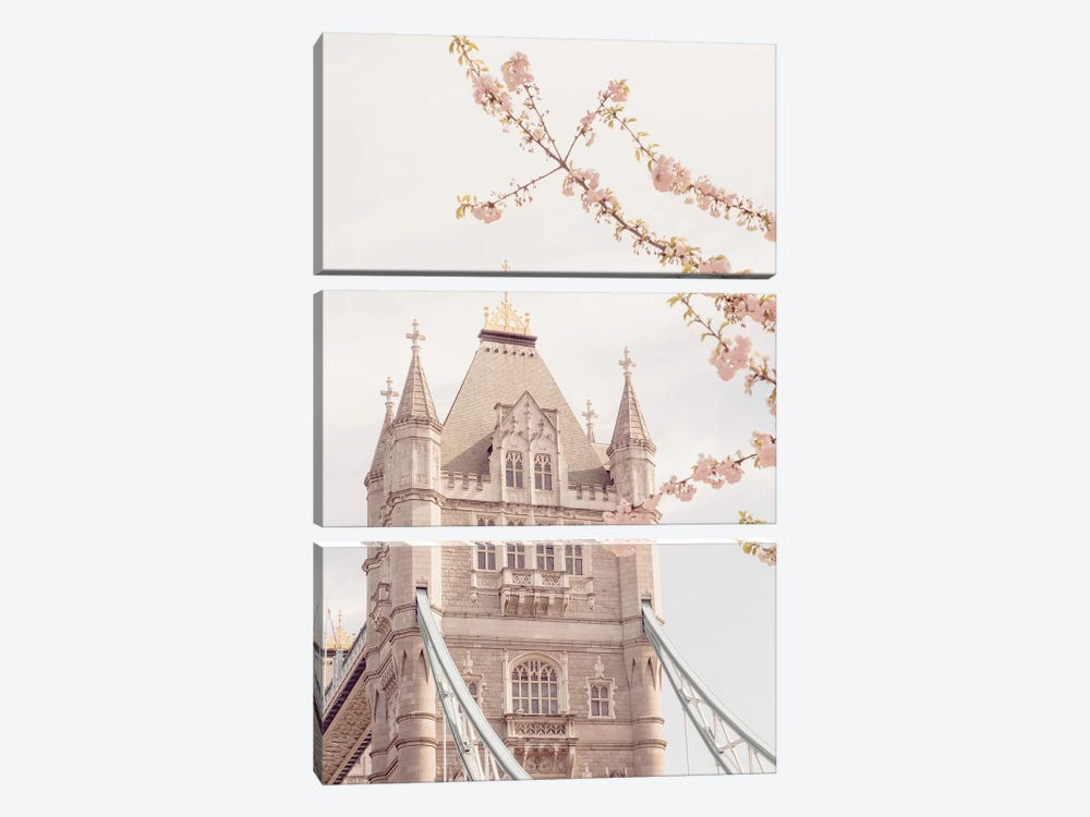 Tower Bridge Floral II by Ruby and B 3-piece Canvas Print