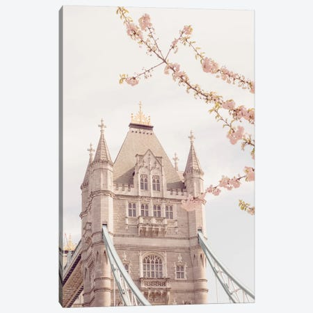 Tower Bridge Floral II Canvas Print #RAB74} by Ruby and B Canvas Wall Art