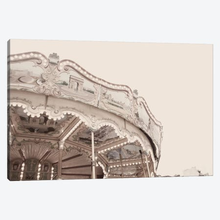 Carousel Belle Epoque Pale Canvas Print #RAB77} by Ruby and B Canvas Wall Art