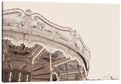 Carousel Belle Epoque Pale Canvas Art Print