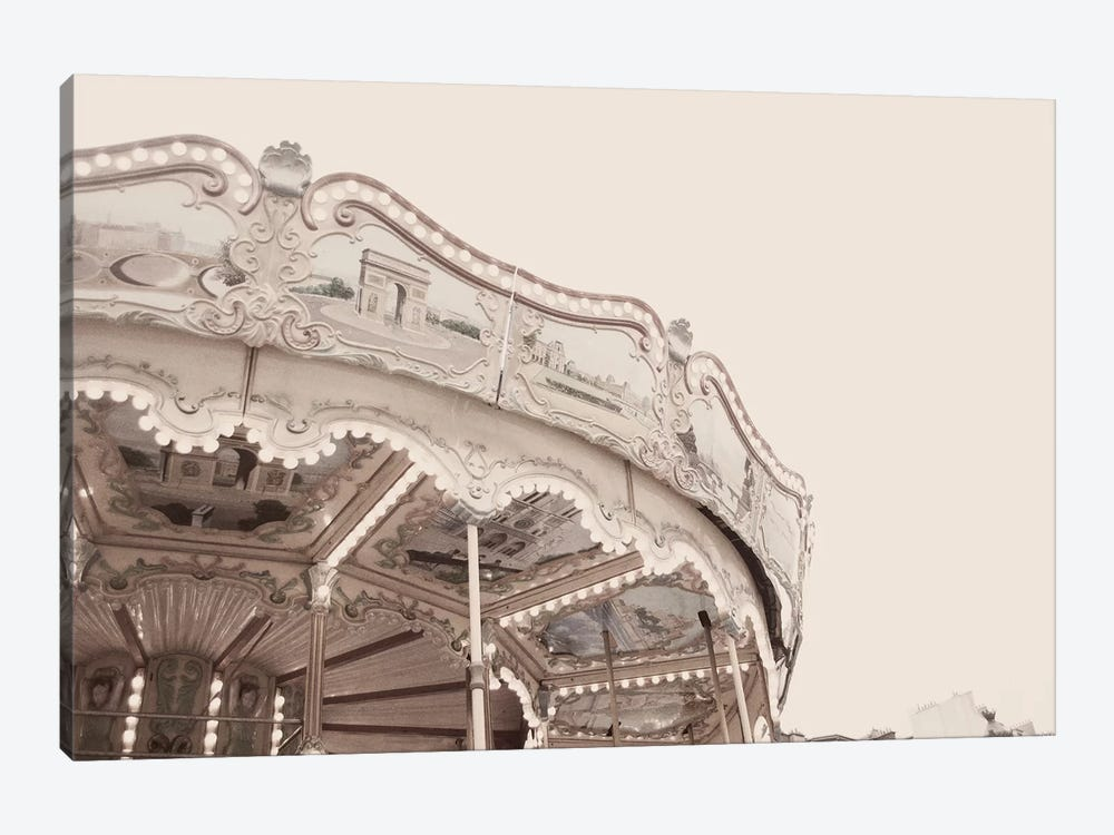 Carousel Belle Epoque Pale by Ruby and B 1-piece Canvas Art