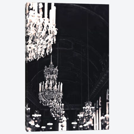 Chandelier Black Silver Canvas Print #RAB79} by Ruby and B Canvas Art Print
