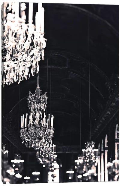 Chandelier Black Silver Canvas Art Print
