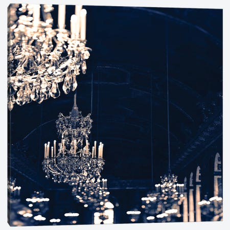 Chandelier Blue Jean Canvas Print #RAB80} by Ruby and B Canvas Artwork