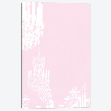 Chandelier Pastel Pink Canvas Print #RAB82} by Ruby and B Canvas Wall Art