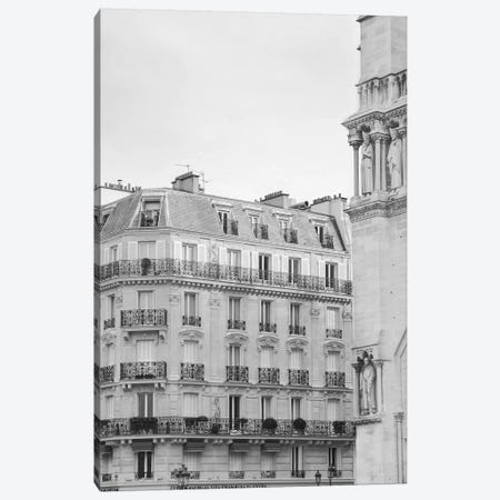 Paris Notre Dame Café II Canvas Print #RAB85} by Ruby and B Canvas Print