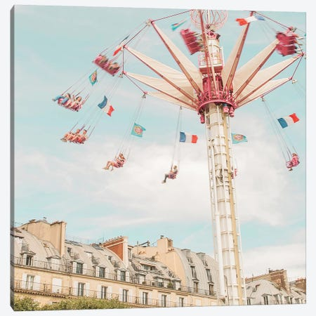 Paris Swings Canvas Print #RAB87} by Ruby and B Art Print