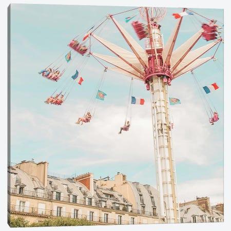 Paris Swings Canvas Print #RAB87} by Ruby and B Art Print