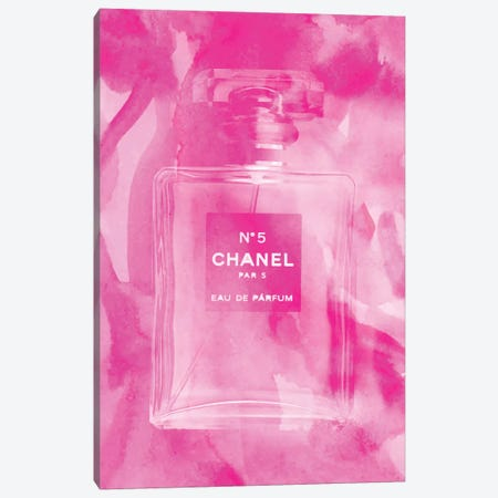 Pink Perfume Canvas Print #RAB90} by Ruby and B Canvas Print