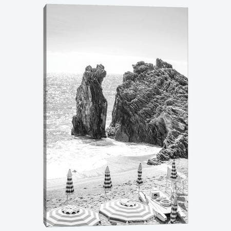 Cinque Terre In Black & White Canvas Print #RAB94} by Ruby and B Canvas Artwork