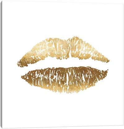 Gold Lips Print Canvas Art Print