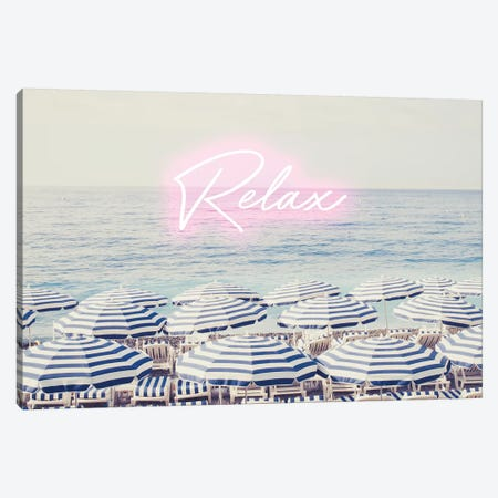 Riviera Neon Canvas Print #RAB96} by Ruby and B Canvas Artwork