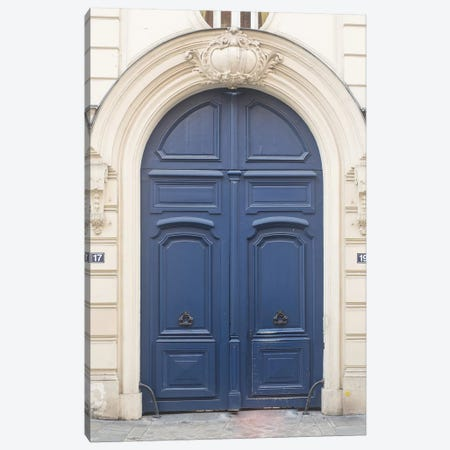 Blue Door Paris II Canvas Print #RAB9} by Ruby and B Canvas Artwork