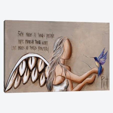 Faith Hope Love Canvas Print #RAC12} by Rut Art Creations Canvas Artwork