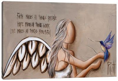 Faith Hope Love Canvas Art Print