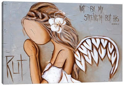 Not By My Strength Canvas Art Print