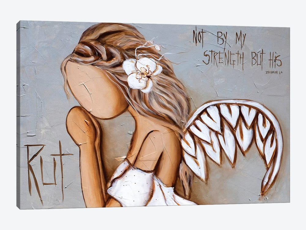 Not By My Strength by Rut Art Creations 1-piece Canvas Print