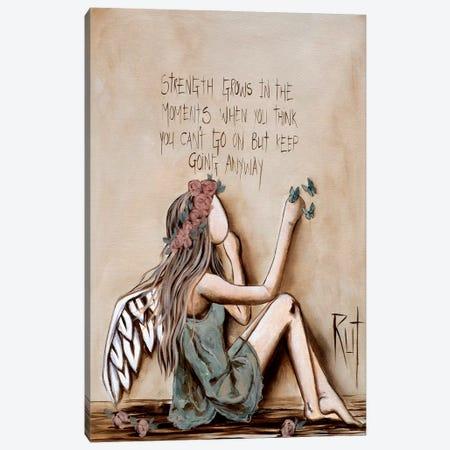 Strength Grows Canvas Print #RAC20} by Rut Art Creations Art Print