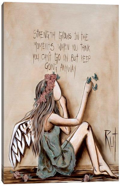Strength Grows Canvas Art Print