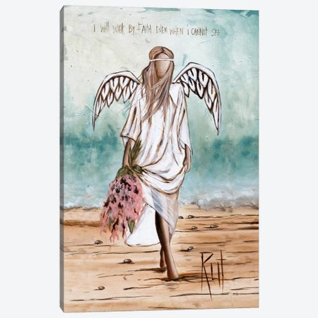 Walk By Faith Canvas Print #RAC25} by Rut Art Creations Canvas Art