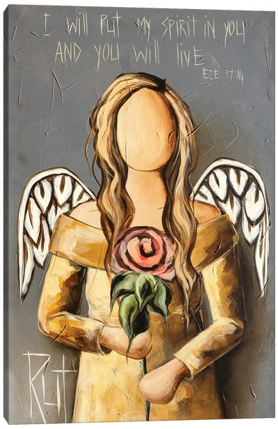 I Will Put My Spirit Canvas Art Print