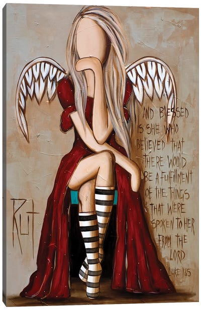 And Blessed Is She Canvas Art Print