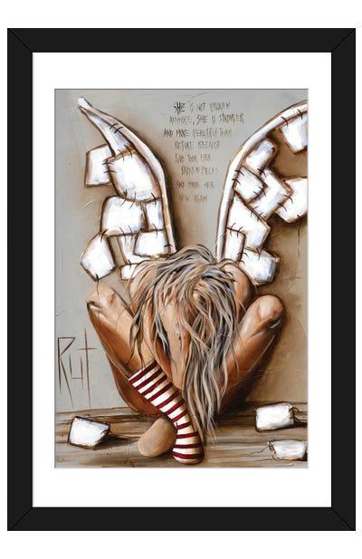 She Is Not Broken Framed Art Print