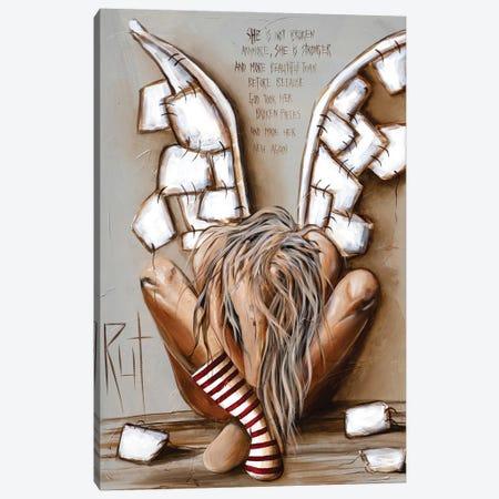 She Is Not Broken Canvas Print #RAC32} by Rut Art Creations Canvas Art
