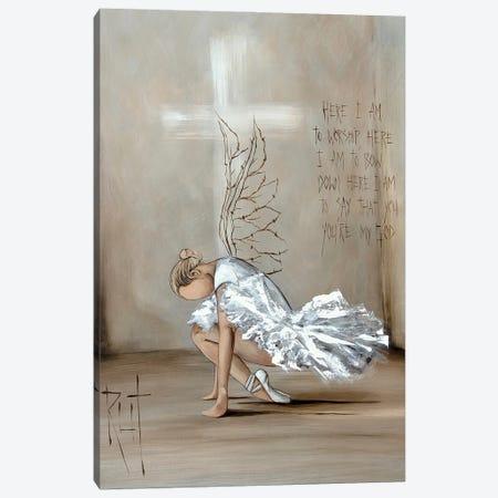 Here I Am To Worship Canvas Print #RAC34} by Rut Art Creations Canvas Art Print