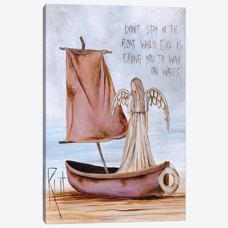 Don't Stay In The Boat Canvas Print #RAC35} by Rut Art Creations Canvas Print