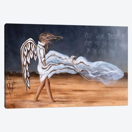 Keep Walking Through The Storm Canvas Print #RAC41} by Rut Art Creations Canvas Print