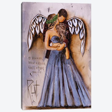 Be Joyful In Hope Canvas Print #RAC50} by Rut Art Creations Canvas Artwork