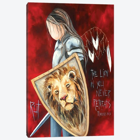The Lion In You Canvas Print #RAC54} by Rut Art Creations Art Print