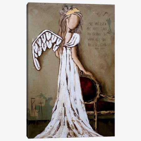 Unleashed Canvas Print #RAC6} by Rut Art Creations Canvas Wall Art