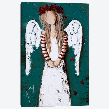 Feathery Canvas Print #RAC7} by Rut Art Creations Canvas Art