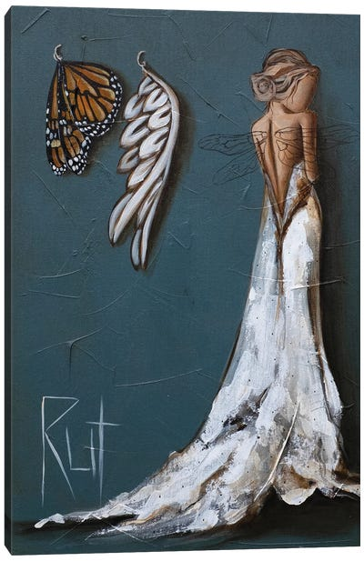 Butterfly And Angel Wings Canvas Art Print